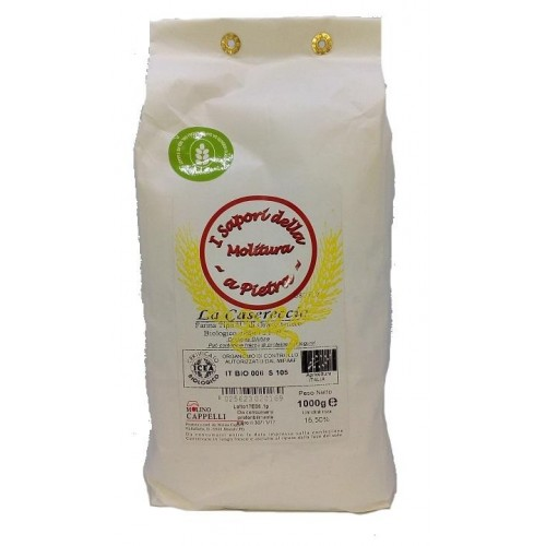 FLOUR TYPE 1 THE CASERECCIA OF GRAIN SOFT WHEAT MILLED WITH STONE 1 KG
