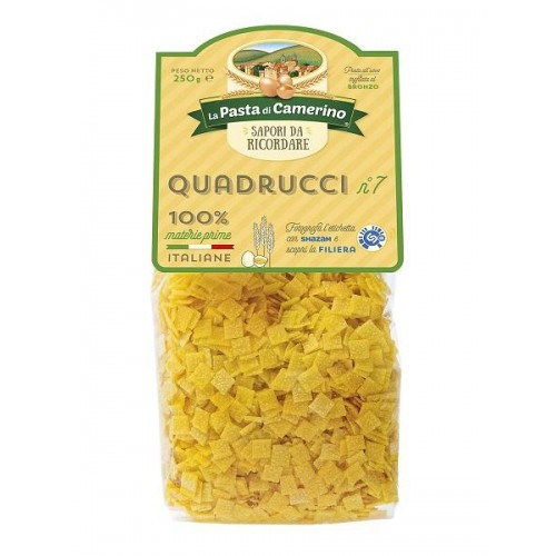 PASTA ALL'UOVO QUADRUCCI N.7 250 GR